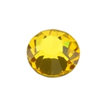 Crystal Citrine: Round Flat Back 6.6mm