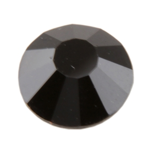 Crystal Jet Black - Round Flat Back
