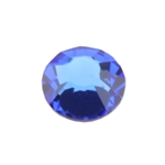 Crystal Sapphire: Round Flat Back 6.6mm