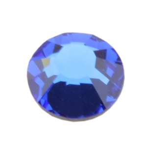 Crystal Sapphire - Round Flat Back