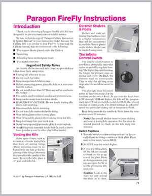 Paragon Firefly Kiln Instruction Manual