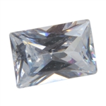 Cubic Zirconia - White Diamond - Baguette 4mm x 6mm Pkg - 4