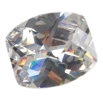 Cubic Zirconia - White Diamond - Barrel Checkerboard