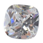 CZ: White Diamond - Cushion 14mm Pkg - 1
