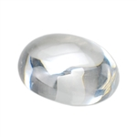 CZ: White Diamond - Cabochon Oval 13mm x 18mm Pkg - 1