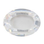 CZ: White Diamond - Cabochon Oval 12x16mm - Buff Top Pkg - 1