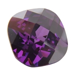 CZ: Amethyst - Cushion - Checkerboard 14mm Pkg - 1