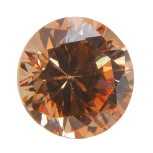 Cubic Zirconia - Champagne - Round