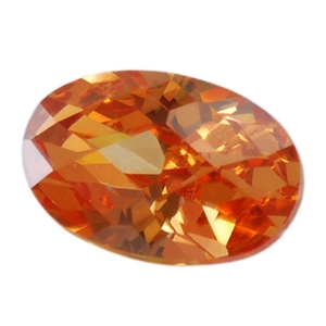 Cubic Zirconia - Champagne - Oval - Checkerboard