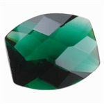 Cubic Zirconia - Columbian Emerald - Barrel - Checkerboard