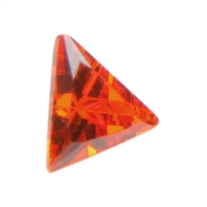 Cubic Zirconia - Fire Opal - Triangle