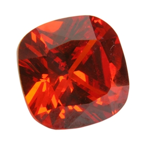 Cubic Zirconia - Fire Opal - Cushion