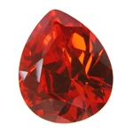CZ: Fire Opal - Pear 10mm x 12mm Pkg - 1