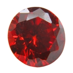 CZ: Round 6mm Hessonite Garnet Pkg - 2
