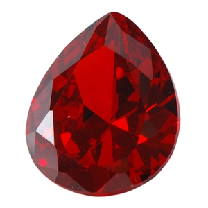 Cubic Zirconia - Hessonite Garnet - Pear