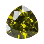 CZ: Trillion 5x5mm Olivine Pkg - 4