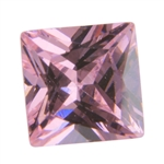 Cubic Zirconia - Pink Sapphire - Square