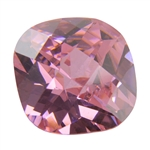 CZ: Pink Sapphire - Cushion - Checkerboard 14mm Pkg - 1