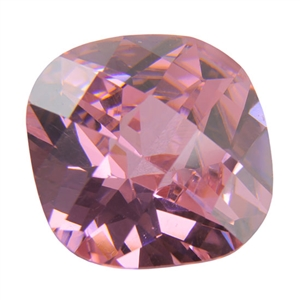 Cubic Zirconia - Pink Sapphire - Cushion - Checkerboard