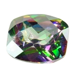 Cubic Zirconia - Alexandrite - Barrel - Checkerboard