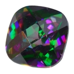 Cubic Zirconia - Alexandrite - Cushion - Checkerboard