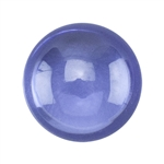 CZ: Dark Tanzanite - Cabochon Round 6mm Pkg - 2