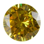CZ: Round 8mm Yellow Diamond Pkg - 1