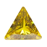 Cubic Zirconia - Yellow Diamond - Triangle