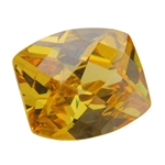 CZ: Yellow Diamond - Barrel - Checkerboard 8mm x 10mm Pkg - 1