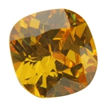 CZ: Yellow Diamond - Cushion 14mm Pkg - 1