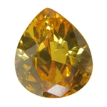 CZ: Yellow Diamond - Pear 12mm x 14mm Pkg - 1