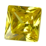 Cubic Zirconia - Yellow Diamond - Square