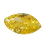 Cubic Zirconia - Yellow Diamond - Marquise