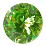 Cubic Zirconia - Green Apple - Round