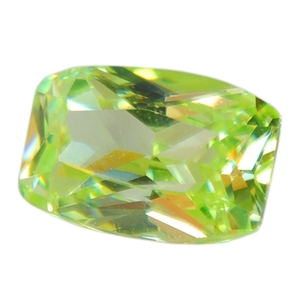 Cubic Zirconia - Green Apple - Barrel