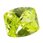 Cubic Zirconia - Green Apple - Barrel - Checkerboard
