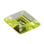 Cubic Zirconia - Green Apple - Diamond 9mm x 13mm Pkg - 1