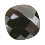 CZ: Jet Black - Cushion - Checkerboard 10mm Pkg - 1