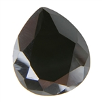 CZ: Jet Black - Pear 10mm x 12mm Pkg - 1