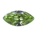 Cubic Zirconia - Green Apple - Marquise