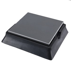 Bench Block - Steel & Rubber 4""