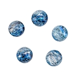 Dichroic Gems - Lite Blue Small - 9mm to 10.5mm - Pkg - 5
