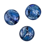 Dichroic Gems - Light Blue Large - 16mm to 20mm Pkg - 3