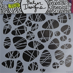 Design Stencil - Pebbles Tied