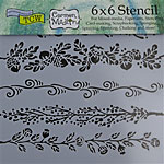 Design Stencil - Fanciful Borders