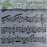 Design Stencil - Mini Sheet Music