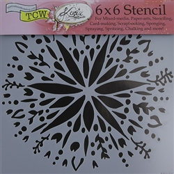Design Stencil - Folk Art Flower