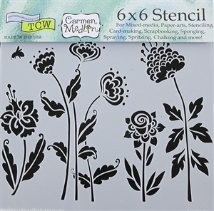 Design Stencil - Flying Garden