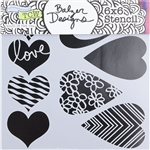 Design Stencil - Mini Mix & Match Hearts