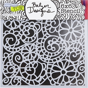 Design Stencil - Mini Swirly Garden